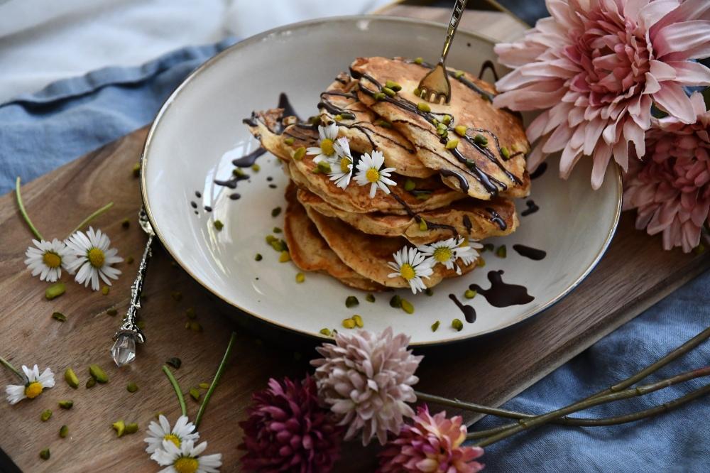 Apfel-Rahm-Pancakes