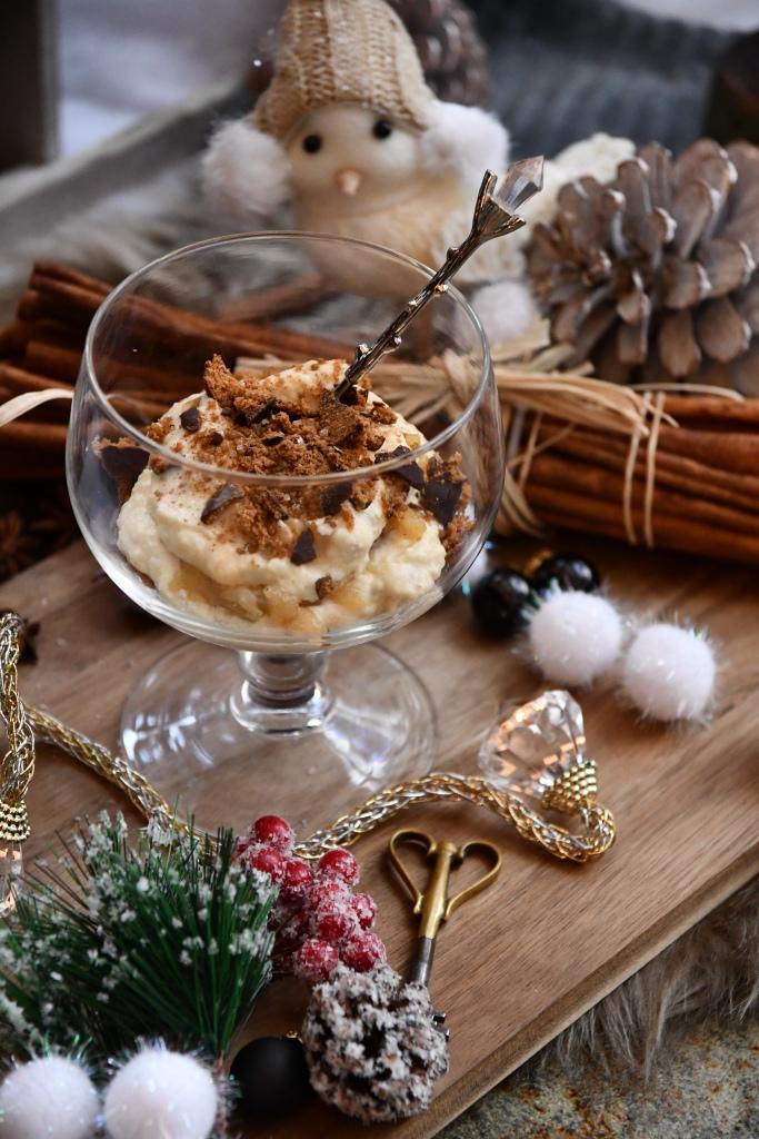 Bratapfel-Lebkuchen-Dessert